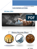 Daily Option News Letter 25 June 2013