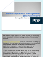 crown capital eco management jakarta reviews-Bali focus on green tourism