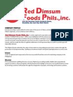 RED DIMSUM FOODS PHIL.INC.