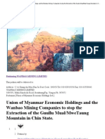 Petition _ Union of Myanmar Economic Holdings and the Wanbao Mining Companies to Stop the Extraction of the Guullu Mual_MweTaung Mountain in Chin State. _ Change