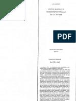 AUBERT Petite Histoire Constitutionnelle de la Suisse