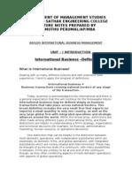 Ba9209 International Business Management