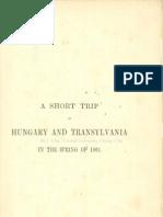 David Thomas Ansted - A Short Trip in Transylvania 1862