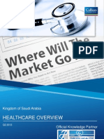 Colliers International Issue Kingdom of Saudi Arabia (KSA) Healthcare Overview (Q2 2013), which provides a brief snapshot of the key factors impacting the Saudi Healthcare sector and the future outlook.