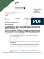 Letter to IEBC on Kethi