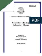 Concrete Tech. Manual