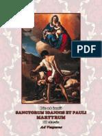 Vísperas. San Juan y Pablo, mártires. 26 de junio. Forma Extraordinaria del Rito Romano. Folleto Bilingue