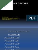 Curs 08 Anomalii Dentare