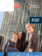 University of Aberdeen UG Prospectus 2013