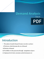 Demand Analysis Unit II