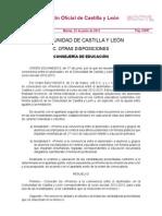 Resolución premios convivencia entre el alumnado  Castilla y León 2012-2013