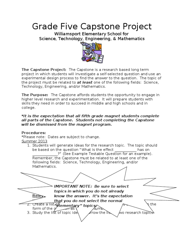 capstone project research questions