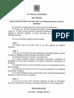 25.06.2013 - Hotarare Pentru Declararea Zilei de 26 Iunie 2013 in Zi de Doliu National