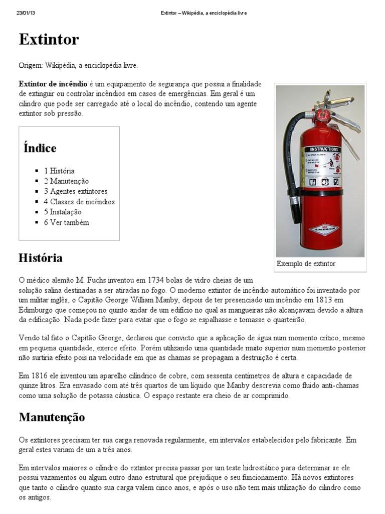 Extintor – Wikipédia, a enciclopédia livre 88024b8ef2