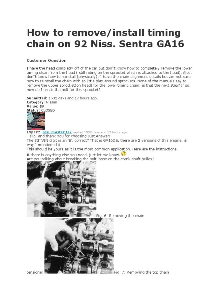 Nissan Sentra Service Manual: Timing chain
