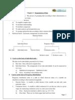 11 Economics Notes Ch03 Organization of Data