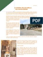 Piel de Cordero, Piel de Camello. San Juan en Ubierna