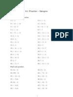 0.1 Integers Practice