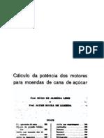 Cálculo da potencia dos motores para moendas de cana de açucar
