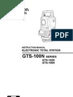 Topcon GTS-100N User Manual