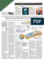 Hacia la predicción de terremotos