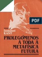 Immanuel Kant - Prolegómenos a Toda a Metafísica Futura