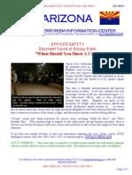 AZ Fusion Center Memo Re When Should You Shoot a Cop Copblock
