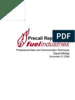 DavidMimila_FuelIndustriesPrecallReport