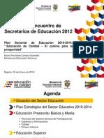 Educación de Calidad en Colombia Reporte del 2012