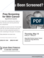 Have You Been Screened? Free Screening for Skin Cancer