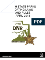 2013 Utah Boating Laws and Rules