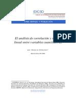El análisis de correlación y regresión lineal entre variables cuantitativas (Chitarroni)