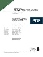 Robert Silverman 32 Beethoven Notes