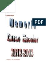Portada Memoria Curso 2012-13