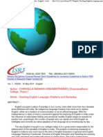 Teaching English Language_ Problems and Remedies _ English - Archive - IsRJ
