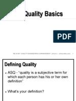 01 Quality Basics