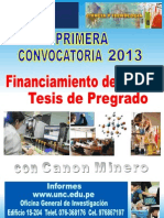 2013 Convocatorias CANON