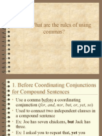 Rules of Commas