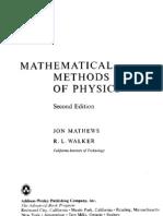 Mathews j & Walker r l Mathematical Methods of Physics(Aw 2ed)(515s)