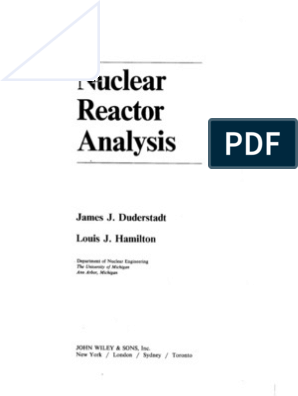 nuclear reactor analysis duderstadt pdf free download