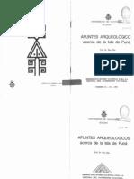 Apuntes Arqueologicos Acerca de La Isla Puna Max Uhle [1930] 1981