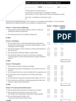 Non-Motor Symptom Assessment Scale for Parkinson's Disease (NMSS)