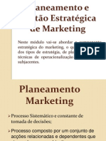 Planeamento e Gestão Estratégica de Marketing