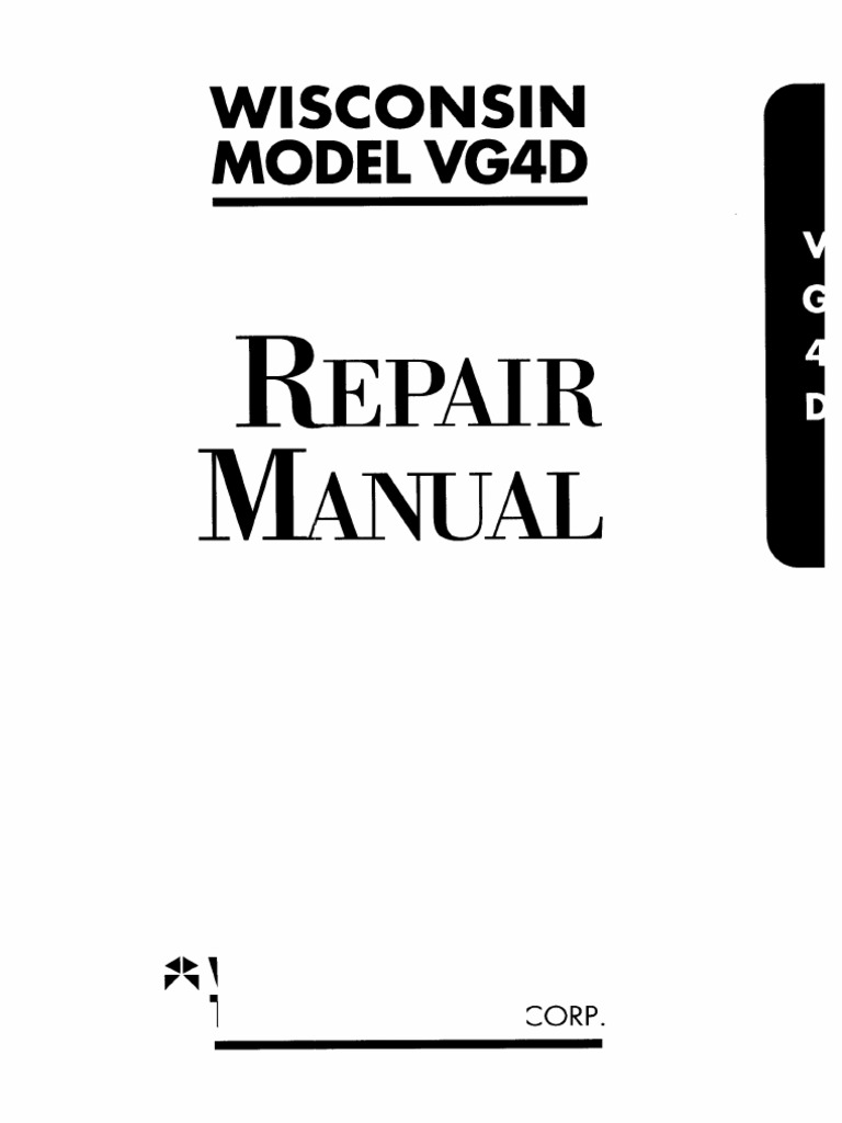Wisconsin Vh4d Wiring Diagram Trusted Diagrams Vg4d Repair Distributor Ignition System Engine