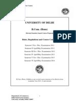 B.Com.(H) course Delhi University