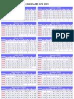 Calendario GPS-Año 2009