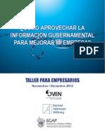 Transparencia Gubernamental Para PyMES