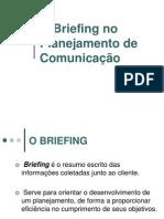 O Briefing no planejamento comunicação