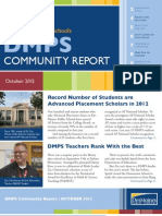 DMPS Community Report - October 2012