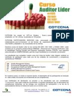 Auditor Líder en las normas ISO 9001 ISO 14001 y OHSAS 18001 (May)